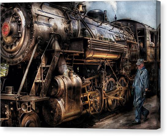 Train - Engine -  Now Boarding Canvas Print