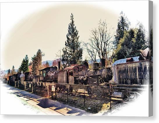 Train Graveyard Canvas Print