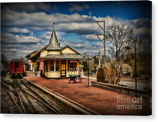 Trainspotting Canvas Print - Train - New Hope Train Station by Paul Ward