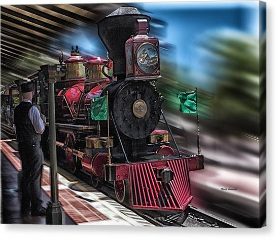 Train Ride Magic Kingdom Canvas Print