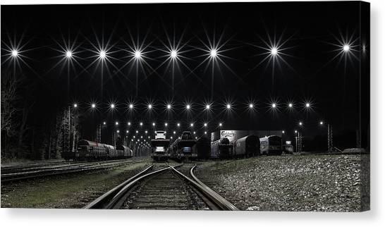 Freight Trains Canvas Print - Train Stars by Leif L?ndal