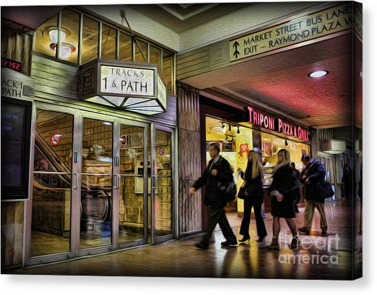 Train Station - Going Home Canvas Print by Lee Dos Santos