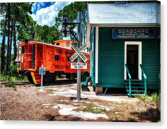 Train Station In Hdr Canvas Print