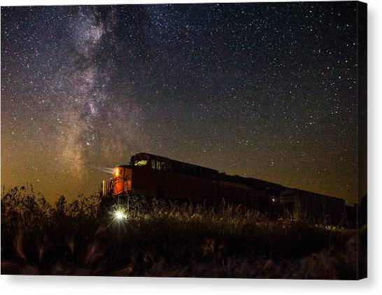 Trains Canvas Print - Train To The Cosmos by Aaron J Groen