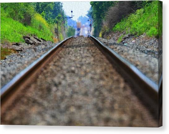 Train Conductor Canvas Print - Train Track Canvas by Dan Sproul
