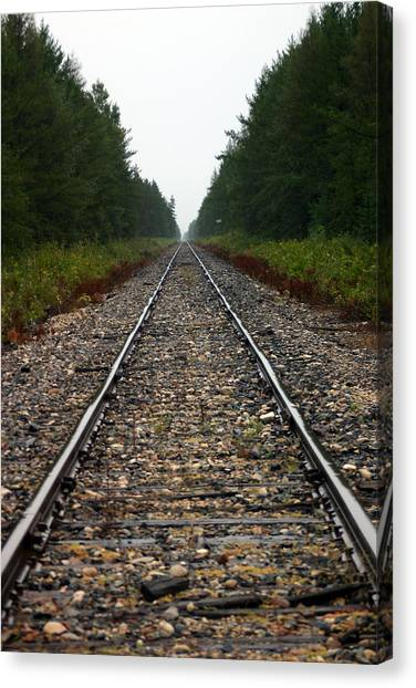 Train Track Vanishing Canvas Print by Kevin Snider
