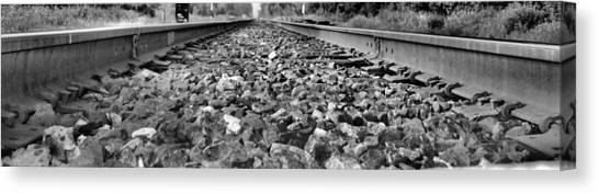 Train Conductor Canvas Print - Train Tracks by Dan Sproul