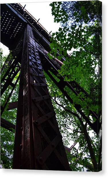 Train Trestle In The Woods Canvas Print