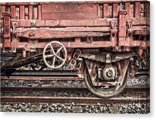 Freight Trains Canvas Print - Train Wagon by Delphimages Photo Creations