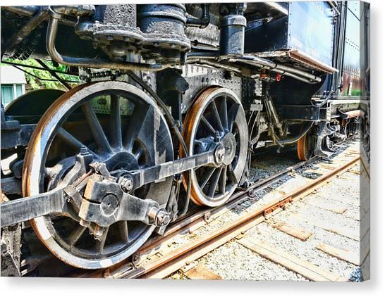 Train Conductor Canvas Print - Train Wheels by Paul Ward