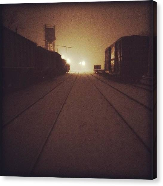 Astronauts Canvas Print - Train Yard. Courtesy Of One Of My Best by T K