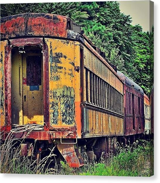 Trainspotting Canvas Print - #trains #trainspotting #trainspotter by A Loving