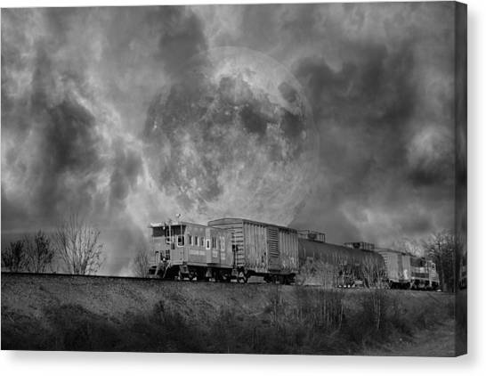 Caboose Canvas Print - Trainscape by Betsy Knapp