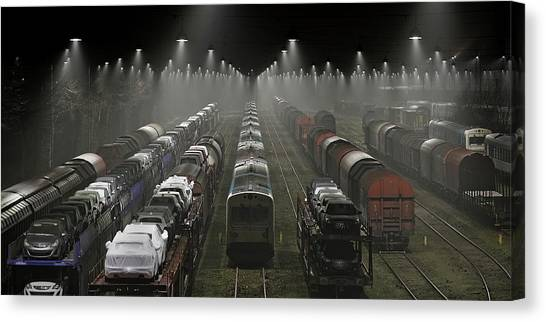Railroads Canvas Print - Trainsets by Leif L?ndal