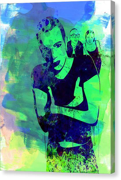 Trainspotting Canvas Print - Trainspotting Watercolor 2 by Naxart Studio