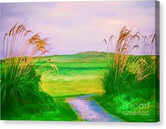 Tralee Ireland Water Color Effect Canvas Print