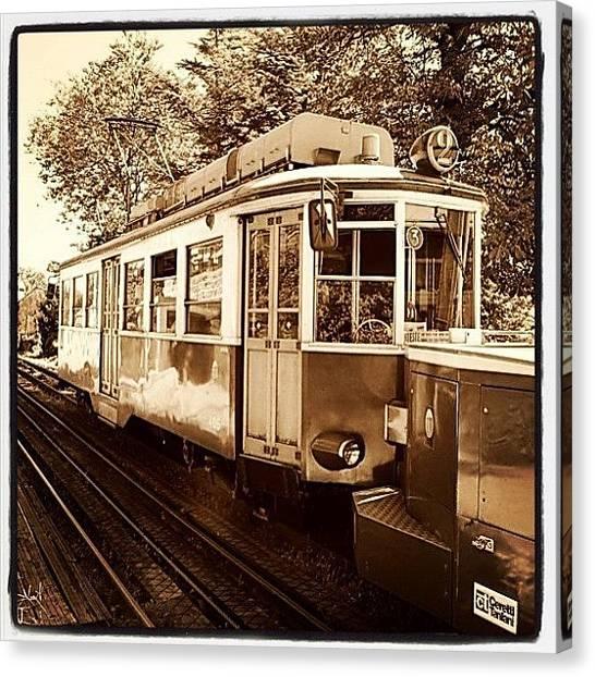 Australian Canvas Print - Tram De Opicina - Trieste by Tony Leone
