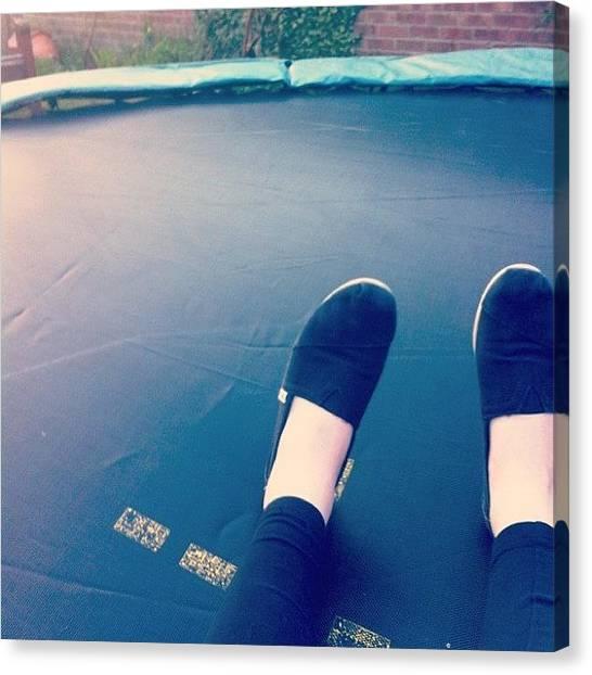 Trampoline Canvas Print - #trampoline #fun by Ashley Grant