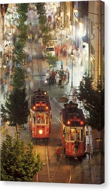 Trams In Beyoglu Canvas Print