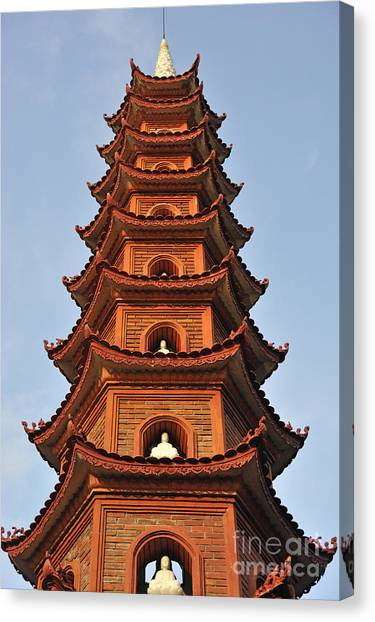 Tran Quoc Pagoda In Hanoi Canvas Print by Sami Sarkis