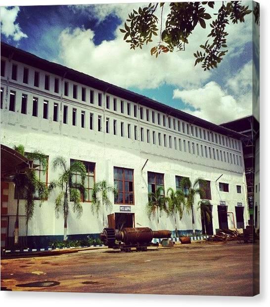 Factories Canvas Print - Trangkil Sugar Factory by Rahmat Nugroho