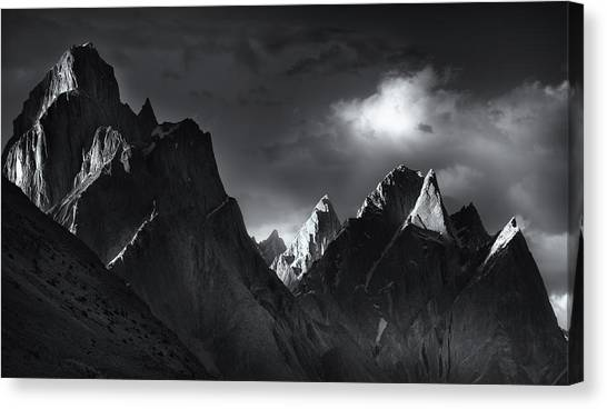 K2 Canvas Print - Trango Towers by Fei Shi