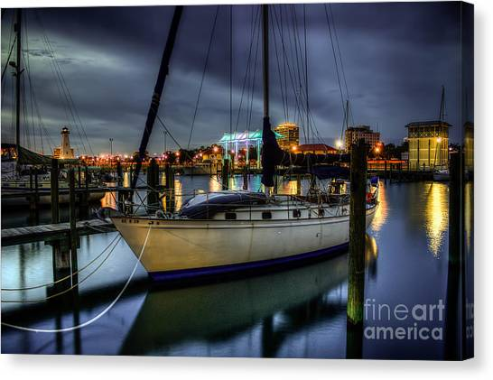 Tranquil Harbour Evening Canvas Print