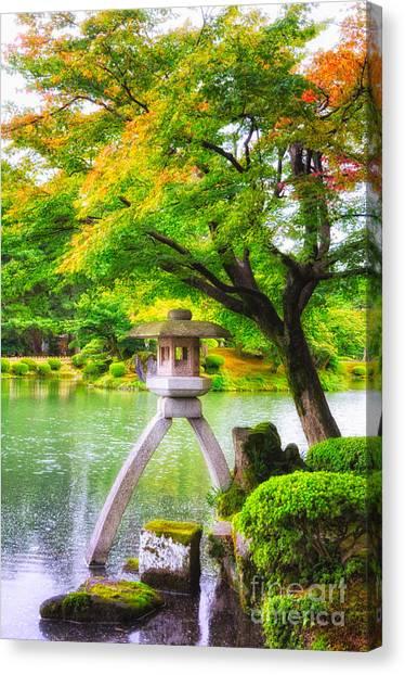 Tranquil Japanese Garden - Kenrokuen - Kanazawa - Japan Canvas Print