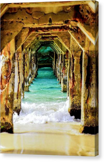 Pier Canvas Print - Tranquility Below by Karen Wiles
