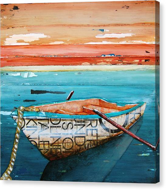 Rowboat Canvas Print - Tranquility by Danny Phillips