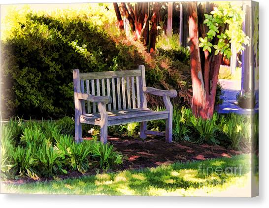 Tranquility In The Park Canvas Print