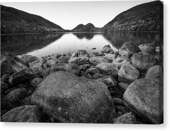 Jordan Pond Canvas Print - Tranquility by Kristopher Schoenleber