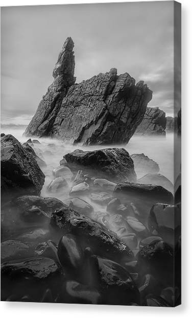 Ocean Cliffs Canvas Print - Tranquility by Yan Zhang