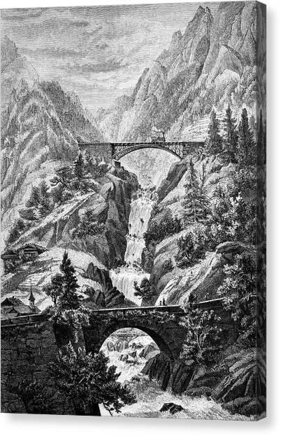 Steam Trains Canvas Print - Trans-alpine Railway by Bildagentur-online/tschanz