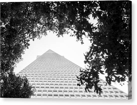 Triangles Canvas Print - Transamerica Up by Casey Merrill