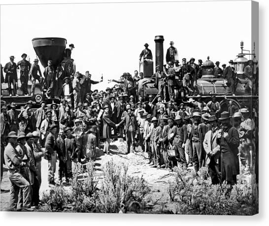 Join Canvas Print - Transcontinental Railroad by Underwood Archives