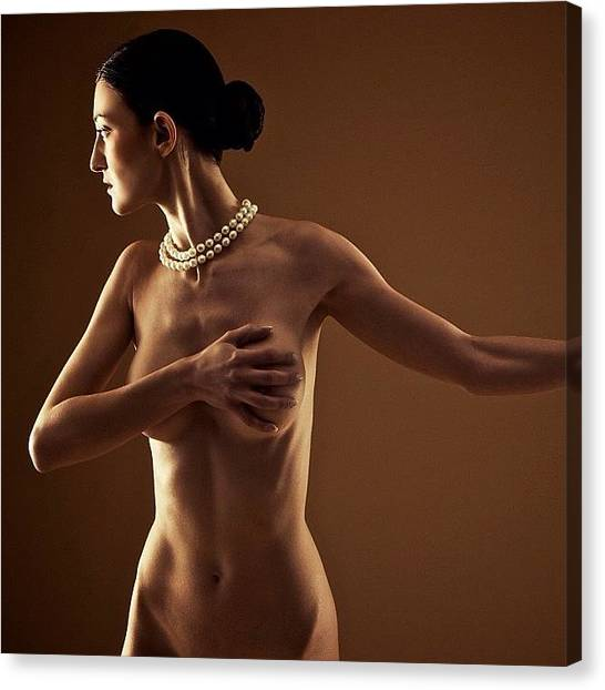 Female Nudes Canvas Print - Transference  Photo By Bryon Paul by Bryon Paul Mccartney