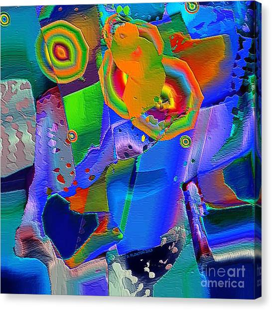 Canvas Print featuring the digital art Transformation by Dee Flouton