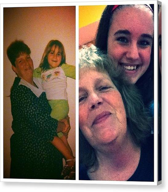 Grandma Canvas Print - #transformation #grandma #change #is by Noel  Peceu