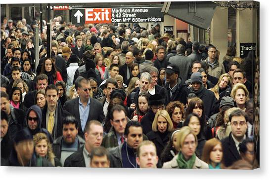 Transit Strike Looms For New York City Commuters Canvas Print by Mario Tama