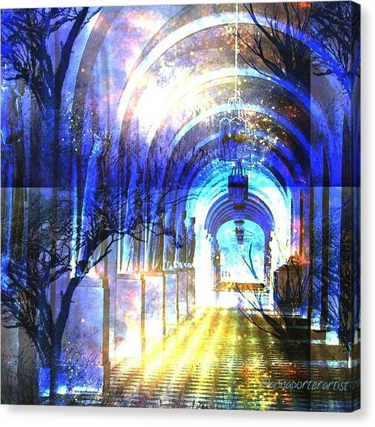 Science Fiction Canvas Print - Transitions Through Time by Anna Porter