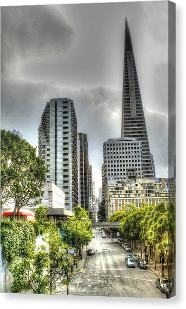 Transmerica Pyramid From The Embarcadero Canvas Print