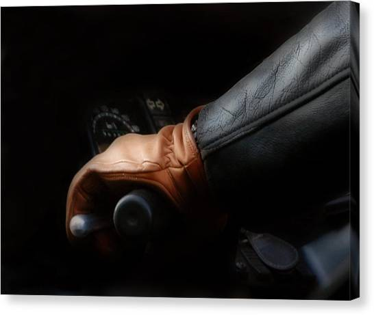 Leather Goes For A Ride Canvas Print