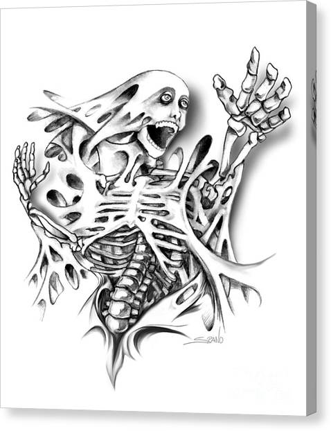 Trapped Skeleton By Spano Canvas Print
