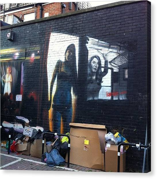 Graffiti Walls Canvas Print - Trash by Harvey Mills