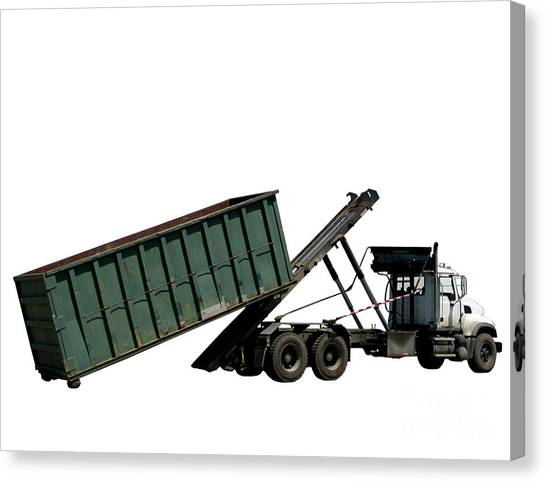 Dump Trucks Canvas Print - Trash Truck by Olivier Le Queinec