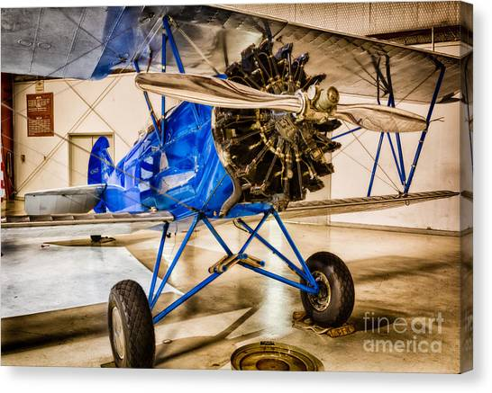 Biplane Canvas Print - Travel Air 4000 by Inge Johnsson