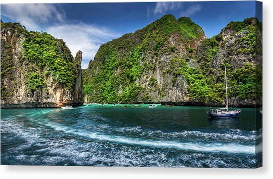 Phi Phi Island Canvas Print - Travel Phi Phi Island by Simonlong