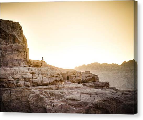 Desert Sunsets Canvas Print - Traveler by Alexey Stiop