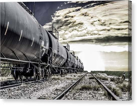 Train And Transient Canvas Print by Brian Yasumura Jr